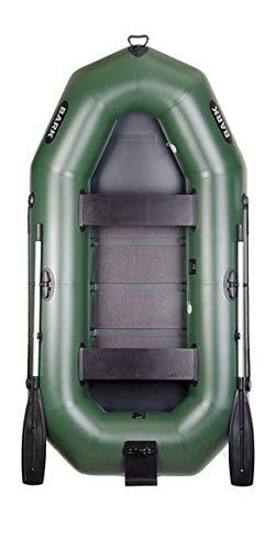 BARK B-270 B-270N B-270NP 2.7 m 270 cm Schlauchboot für 2 Person Paddelboot Ruderboot Motorboot Angelboot Heckspiegel Lattenboden für Motor Profi (B-270N Lattenboden Heckspiegel)