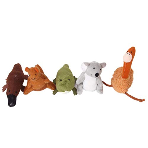 YLLAND Animal Dedo Puppets Peluche Dedo Dolls Storytelling Juego Props para niños Niños Suministros de Tiempo de Historia 5pcs LNNDE