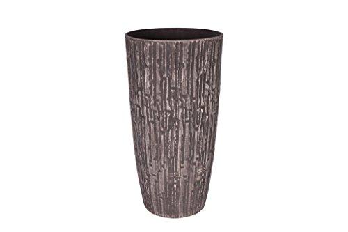 Cera-Mix Pot de Fleurs, Bac à Plante Caval, résistant au Gel et ultraléger, Brun, 27x50cm