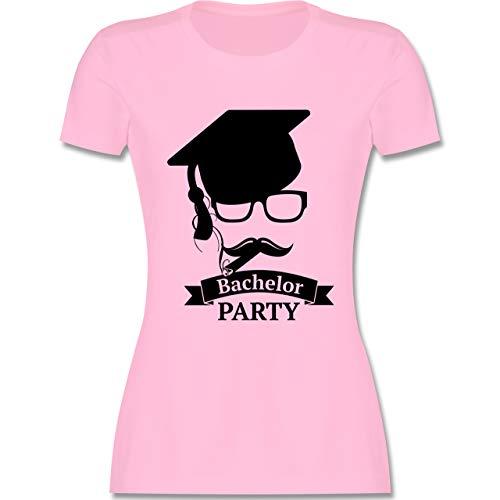 Abi & Abschluss - Bachelor Party Abschluss Studium - XXL - Rosa - Bachelor Geschenk - L191 - Tailliertes Tshirt für Damen und Frauen T-Shirt