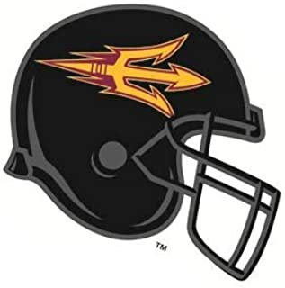 4 Inch ASU Logo Football Helmet Decal Trident Pitchfork Arizona State University Sun Devils AZ Removable Wall Sticker Art NCAA Home Room Decor 4 by 3 Inches