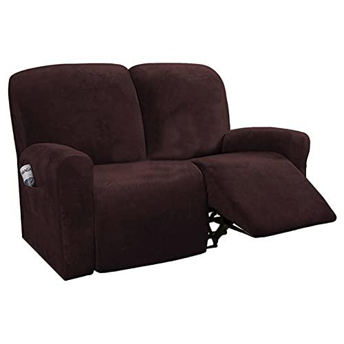 HUAGE Cubiertas de sofás de Silla, Cubierta de sofá reclinable Todo Incluido para una Funda de Silla de sofá elástica de 2 y 3 Asientos, Cubierta de sofá Antideslizante de una Pieza