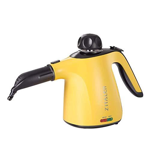Nettoyeur à vapeur ménager à main haute pression produit chimique vapeur gratuit avec 9 pièces accessoires pour détachage, tapis, rideaux, sièges d'auto, cuisine, salle de bains, surfaces, sol, plus