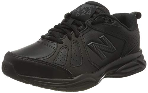 New Balance 624v5, Cross Trainer Mujer, Negro (Black), 36 EU