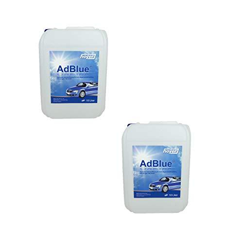 Hoyer AdBlue Hochreine SCR Harnstofflösung ISO 22241, 2x10 Liter