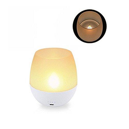 HVTKL draagbare USB-oplaadbare dimbare LED vlamloze kaars nachtlampje Blow Sensor Control Tee lamp HVTKL