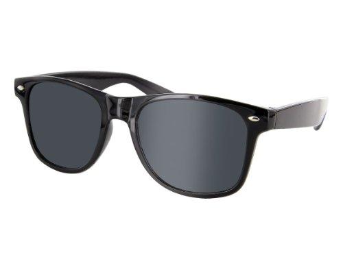Alsino Gafas de sol Nerd sin graduacin para carnaval, rockabilly, gafas de sol falsas negras para disfraz, gafas falsas de cuerno, accesorios, gafas de moda, vintage, profesora (negro)