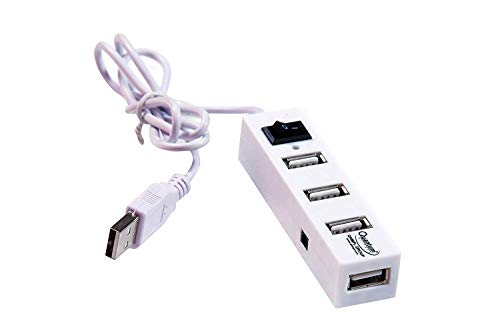 Quantum 4 Port USB Hub with Switch and LED Indicator -Color may vary(Black or White)