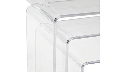 A2Z home solutions - Juego de 3 mesas Nido de Cristal acrílico ...