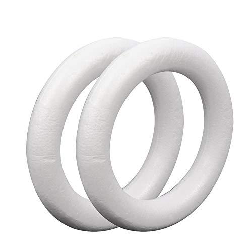 Helmay - Set di 2 anelli circolari in polistirene, 25 x 4 cm, decorazione per feste
