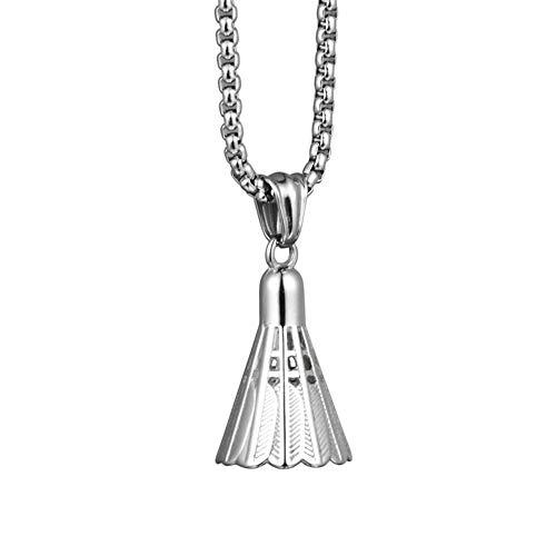 Männer Spezielle Persönlichkeits Shuttlecock Badminton Halskette Mode Edelstahl-Schmuck-Zubehör
