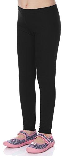 Merry Style Mädchen Lange Leggings aus Viskose MS10-130 (Schwarz, 134)