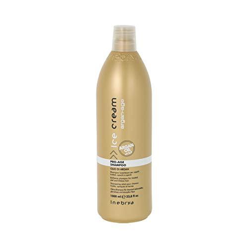 Inebrya Ice Cream Pro-age Shampoo Olio Di Argan for Treated, Dull and Lifeless Hair with Argan Oil 33.8 Oz by Ice Cream by Inebrya