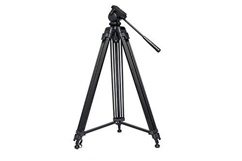 """Blulux.it ST-650 Treppiede professionale per video in alluminio. Gambe parallele. Estensibile fino a 164 cm (64""""), con custodia imbottita. Italian design."""