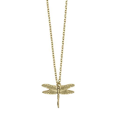 Timi of Sweden | Collar con diseño de libélula chapado en oro | Exclusivo diseño escandinavo, el regalo perfecto para el día de San Valentín para madre, hija y novia