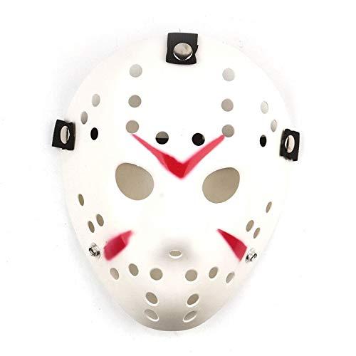 Party Masks - Scary Black False Full Face Halloween Party Jason Mask Masquerade Masks Costume Cosplay Decor - Jason Detailed Cube Cake Shirt Blank Charm Buckle Realistic Flag Glove Hoodie