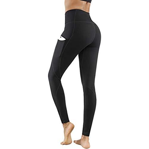 ODJOY-FAN Signorina A Vita Alta Anca Fitness Movimento Stretto Yoga Nove Pantaloni Pantaloni da Donna Leggins Sportivi Vita Alta Collant Tuta Pants Gym
