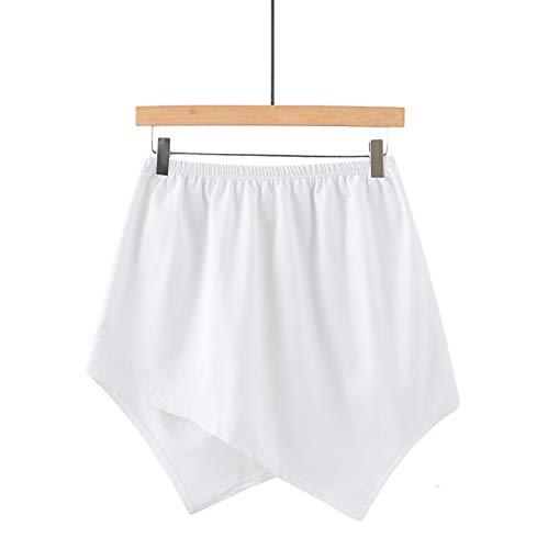 Lenfeshing Falda de Barrido Inferior Superior Falso de Capas Ajustables Falda de Media Longitud Dividiendo Extender Mini Falda para Suéter Sudadera Chaqueta Abrigo