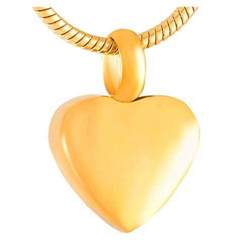 Wxcvz Collar para Cenizas Mini Collar De Urna De Cremación De Corazón Keep Aske Encantos Pendientes, Encantos De Cenizas para Pulsera