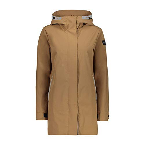 CMP Campagnolo Damen Mantel 30Z5576 Dune P839 Fashion, Farbe:beige, Sportgroessen:46