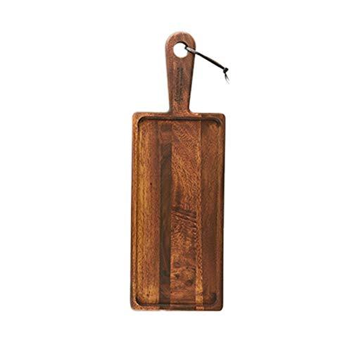 Tablero de servidor de queso de madera Acacia con mango para decorar tableros de corte Cocina tajas de tajas Party Charcuterie Tablero para alimentos cocidos, carne, verdura, fruta y queso