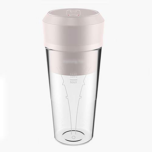 Portable Blender, Mini Personal Blender With USB Rechargeable, Juicer Smoothie Blender Smoothie Maker Cordless BPA Free Small Juicer Cup Mixer, Home Outdoor Travel Office, 13oz/300ml ( Color : Pink )