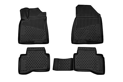 Element EXP.ELEMENT3D01783210 Passgenaue Premium Antirutsch Gummi Fußmatten - KIA NIRO - Jahr: 16-20, schwarz
