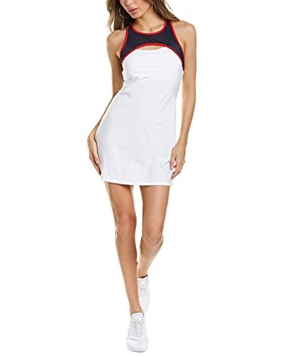 Eleven by Venus Williams Womens Williams Sleeveless Zoom Dress, Xs, White