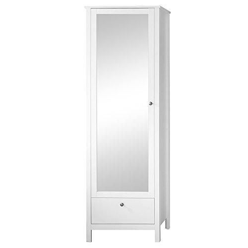 trendteam smart living Garderobe Garderobenschrank Schrank Ole, 62 x 192 x 38 cm in Weiß mit Schubkasten und viel Stauraum