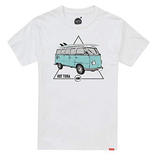 Hot Tuna Bermuda Camiseta, Blanco (White White), Small para Hombre
