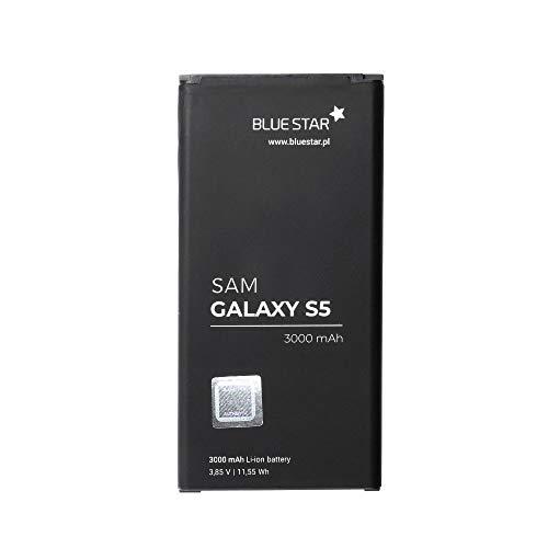 Blue Star Premium - Batería de Li-Ion litio 3000 mAh de Capacidad Carga Rapida 2.0 Compatible con el Samsung Galaxy S5