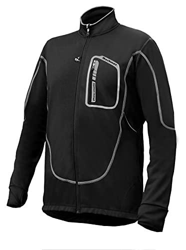 BERKNER Jacob - Chaqueta de ciclismo (talla 5XL), color negro y gris
