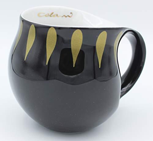 Luigi Colani Designer Tasse Kaffeetasse Becher Cappuccinotasse Kaffeebecher Gold&Color Drops Schwarz/Gold 280 ml