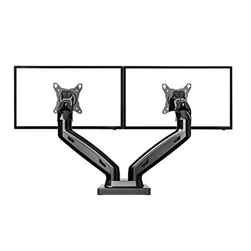 Desktop Monitor Mount Dual Arm Monitor Ondersteuning 17-27 inch monitor Mount Bracket Load 2-6,5 kg per stuk Arm (Color : Black)