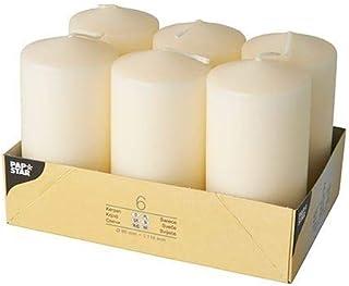 Papstar 17991 à flamme ø 60 x 115 mm-lot de 6–crème