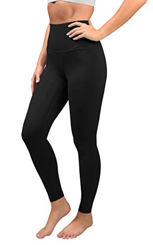 90 Degree By Reflex Cotton Super High Waist Ankle Length Compression Leggings with Elastic Free...