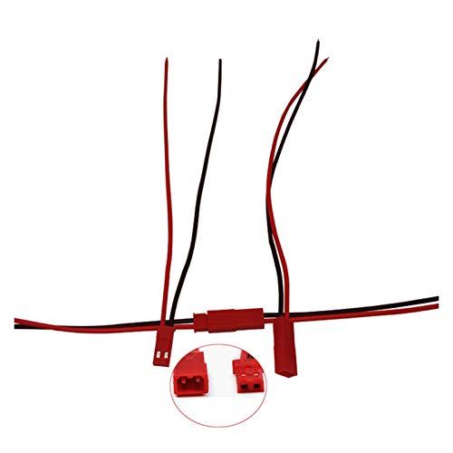Xianggujie Cable de Enchufe de 2 Clavijas Conector/Hembra (Color : 100 Pairs)