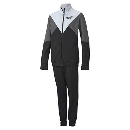 PUMA Rebel Poly Suit Cl B Trainingsanzug, Kinder, Schwarz, 13-14 Jahre