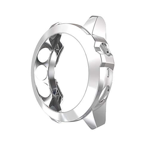 pulseira Relógio resistente a choques e arranhões Shell Fashion Watch Case de proteção para relógio de pulso, moldura compatível para Garmin Fenix ??5X (cinza)