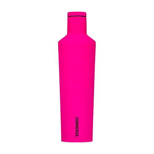 Corkcicle Neon Bottiglia isotermica, Acciaio Inossidabile, Pink, 47 cl