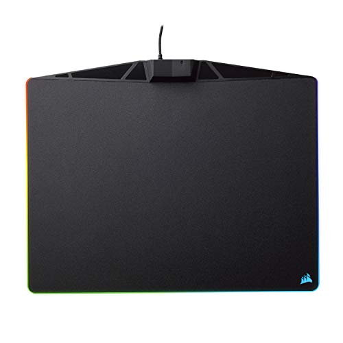 Corsair MM800 Polaris RGB Mouse Pad - 15 RGB LED Zones - USB Pass Through - High-Performance Mouse Pad Optimized for Gaming Sensors, Black