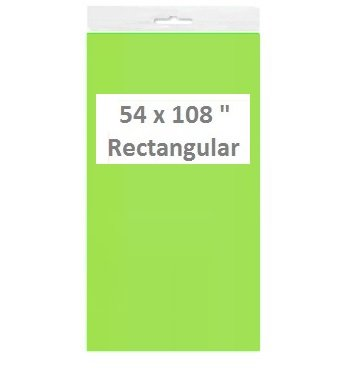 Green Table Covers/Tablecloths/Table Cloths, Plastic Rectangular (2, Neon Green)