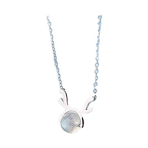 CREACEC Collar de Cristales de Flores de Rosa, de Swarovski Jewelry Set Collar Colgante Pendientes Pendientes de Oro Rosa Chapado para la Sra. Regalo del Festival,Oro