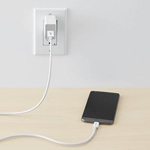 Amazon Basics - Cable USB tipo C a USB A 3.1 macho de 2ª generación - 0,9 m - Blanco