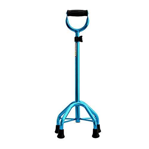 JIEER-C Ergonomische stoel, loophulp, loophulp, loophulp voor oudere stokken met vier antislipbenen, uittrekbare handgreep Rosa Roja