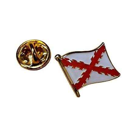 Gemelolandia | Pin de Solapa Bandera Mastil Aspa de Borgoña Cruz de San andres 15mm | Pines Originales Para Regalar | Para las Camisas, la Ropa o para tu Mochila | Detalles Divertidos