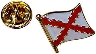 Gemelolandia   Pin de Solapa Bandera Mastil Aspa de Borgoña Cruz de San andres 15mm   Pines Originales Para Regalar   Para...