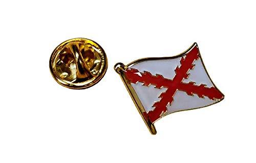 Gemelolandia   Pin de Solapa Bandera Mastil Aspa de Borgoña Cruz de...