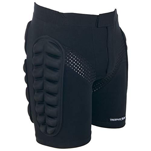 Trespass Impact - - Pantalones Corto con amortiguaci贸n, Color Negro, Talla XL