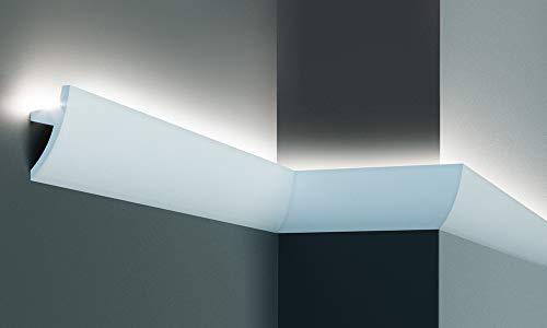 Cornice per illuminazione indiretta led a parete o soffitto - EL502 (2 metri)